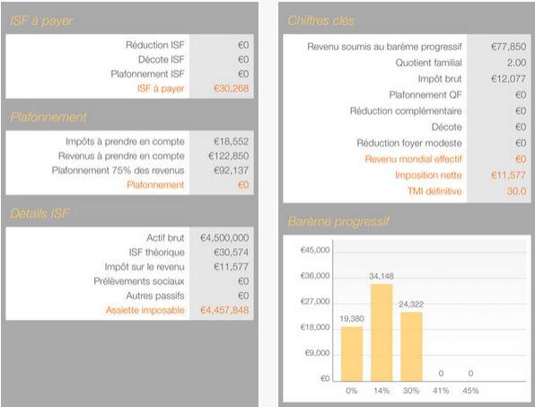 Capture d'écran Impôts 2016 Free iOS