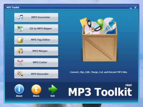 Capture d'écran MP3 Toolkit