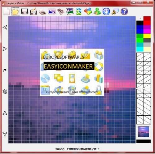 Capture d'écran EasyIconMaker