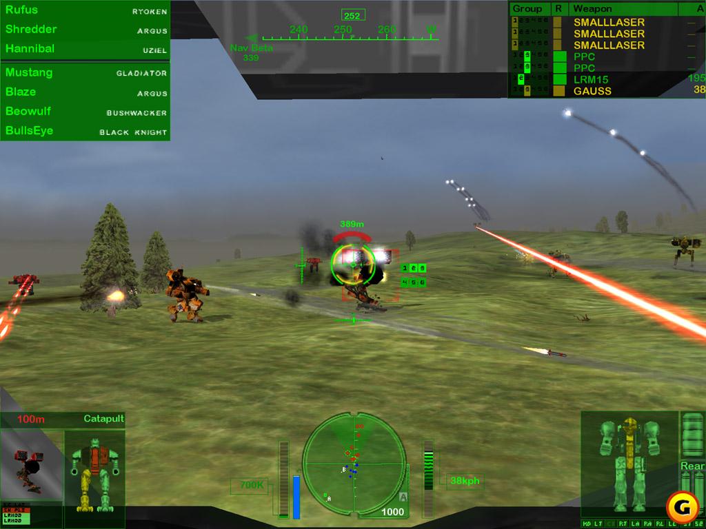 Capture d'écran MechWarrior 4 mercenaries