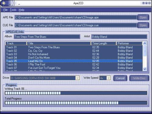 Capture d'écran Ape2CD