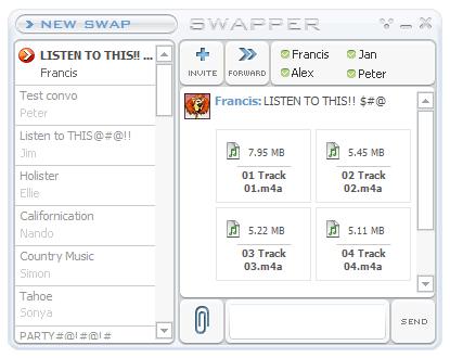 Capture d'écran Swapper