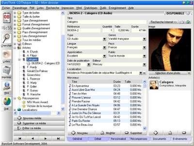 Capture d'écran EuroThink CDThèque