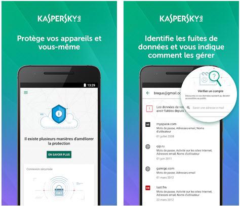 Capture d'écran Kaspersky Security Cloud Android