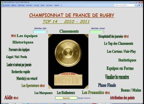 Capture d'écran TOP 14  2010-2011