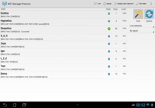 Capture d'écran WiFi Manager Android