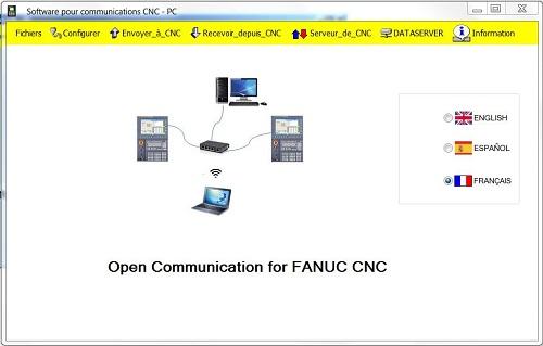 Capture d'écran Open Communication Software for FANUC