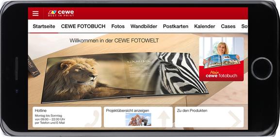 Capture d'écran Cewe photo iOS