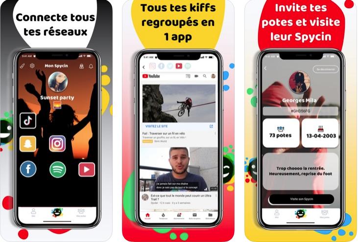 Capture d'écran Spycin iOS