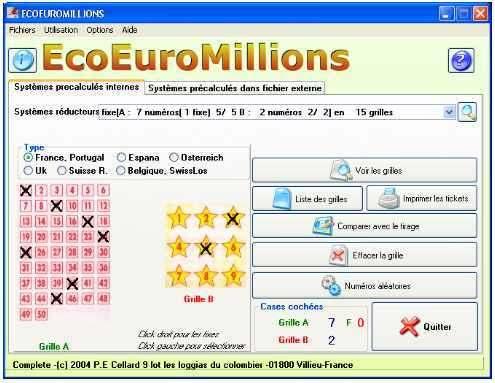 Capture d'écran EcoEuroMillions
