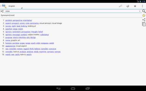 Capture d'écran Synonymes online