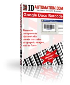 Capture d'écran Google Docs Barcode Generator