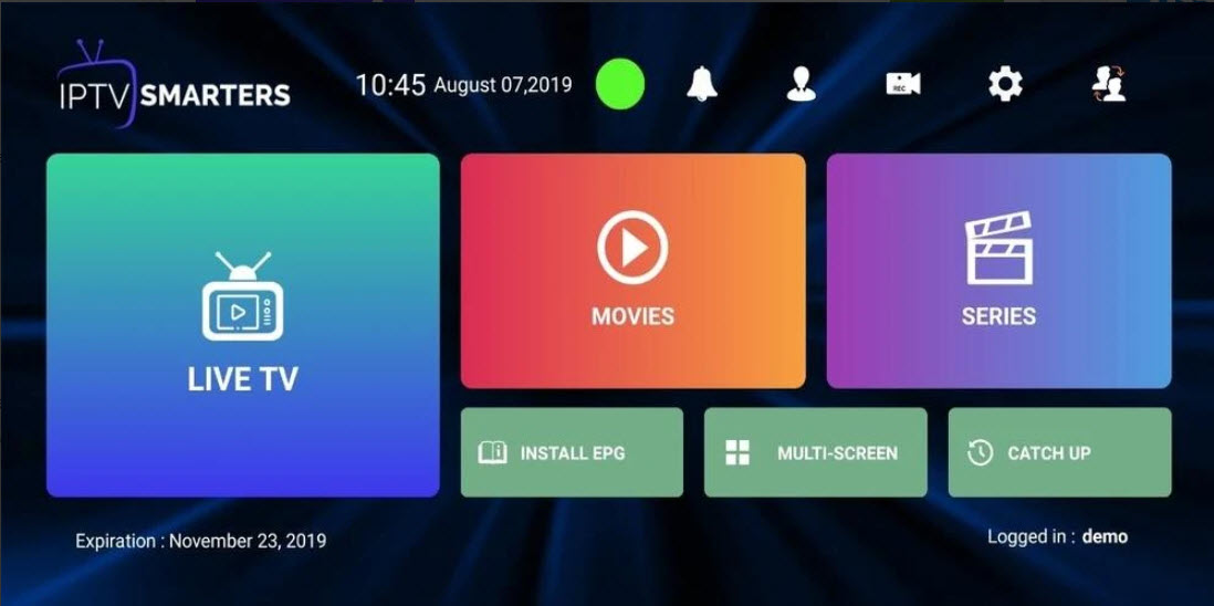 Capture d'écran IPTV Smarters Pro Android