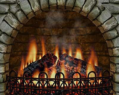 Capture d'écran 3D Realistic Fireplace Screen Saver-Feu de cheminée