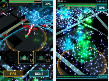Capture d'écran Ingress Android