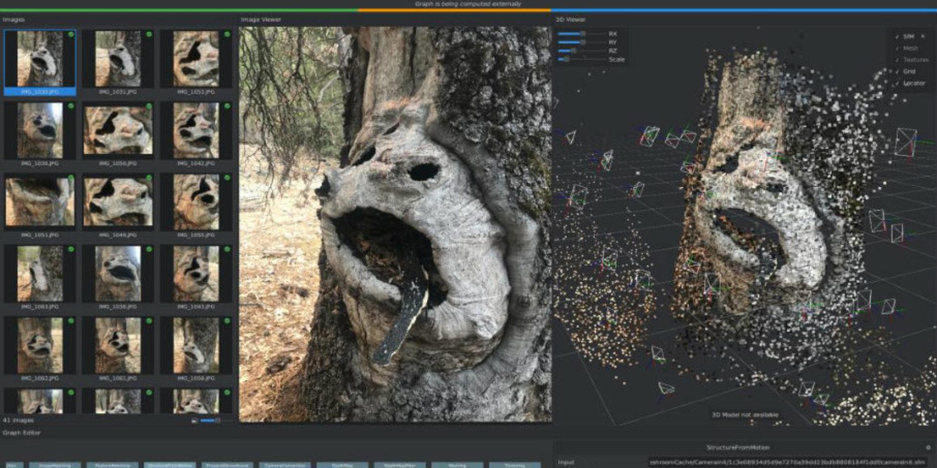 Capture d'écran Meshroom