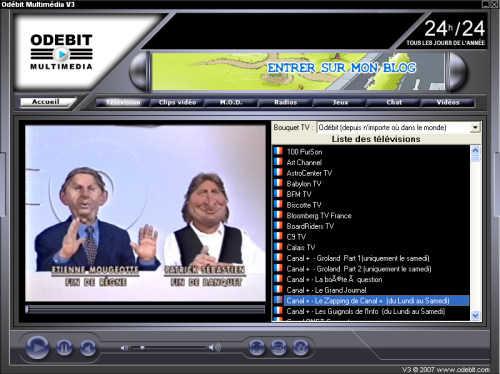 Capture d'écran Odébit Multimedia V3