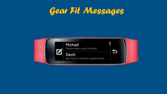 Capture d'écran Gear Fit Messages