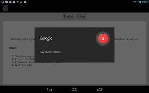 Capture d'écran Voice Movie Search