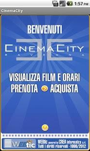 Capture d'écran Webtic CinemaCity Ravenna