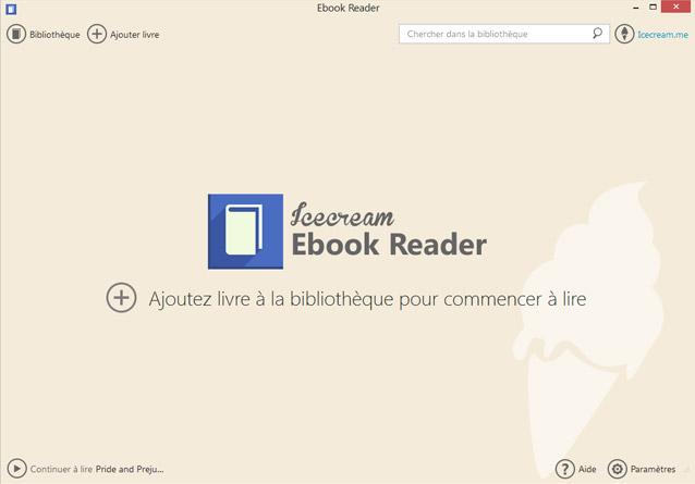 Capture d'écran Icecream Ebook Reader 5.19