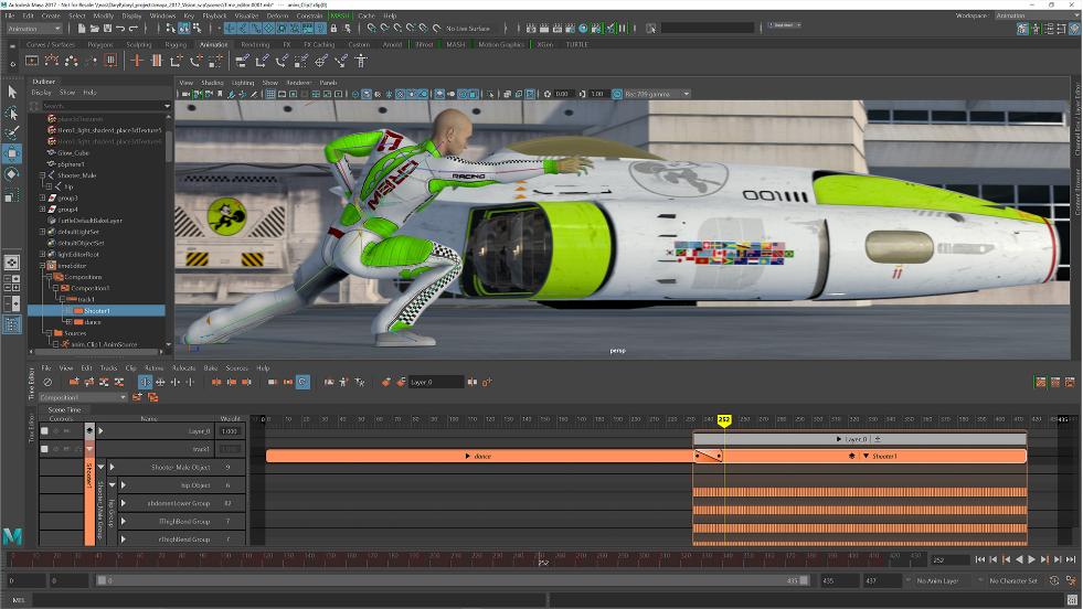 Capture d'écran Autodesk Maya