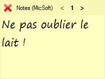 Capture d'écran Notes (MicSoft)