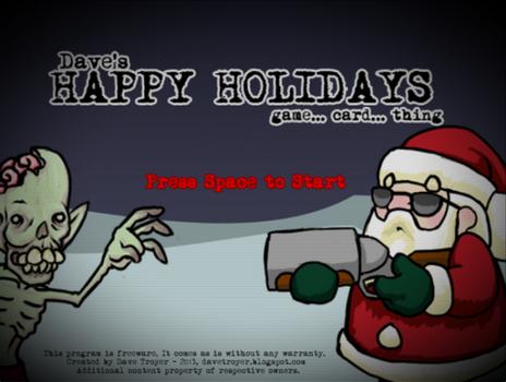 Capture d'écran Happy Holidays Linux