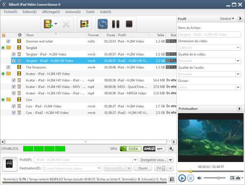 Capture d'écran Xilisoft iPad Vidéo Convertisseur 6