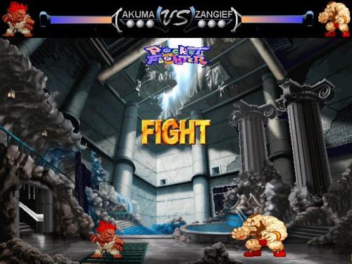 Capture d'écran Pocket Fighters 2 : AKUMA versus ZANGIEF