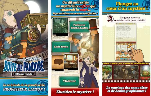 Capture d'écran Layton : boîte de Pandore Android