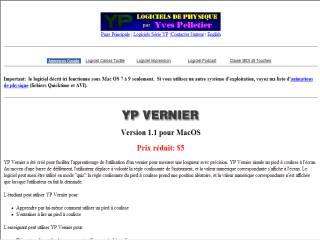 Capture d'écran YP Vernier