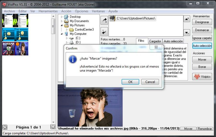 Capture d'écran VisiPics