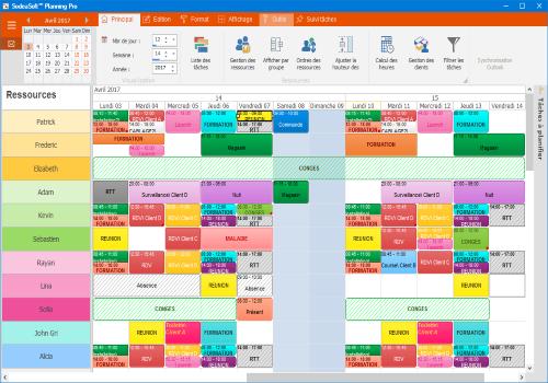 Capture d'écran SodeaSoft Planning Pro