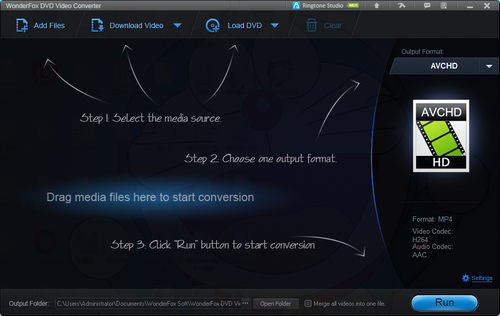 Capture d'écran WonderFox DVD Video Converter 17.0