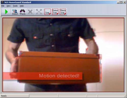 Capture d'écran SGS HomeGuard Standard VMD software
