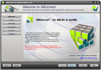 Capture d'écran DBConvert for SQLite & MySQL