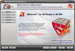 Capture d'écran DBConvert for Access & MSSQL