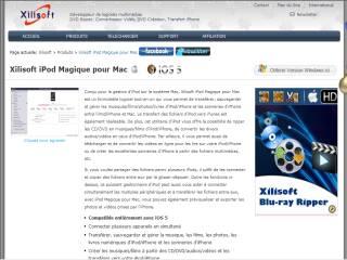 Capture d'écran Xilisoft iPod Magique pour Mac
