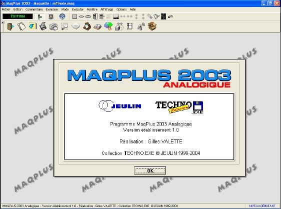 Capture d'écran MaqPlus (Mode d'emploi)