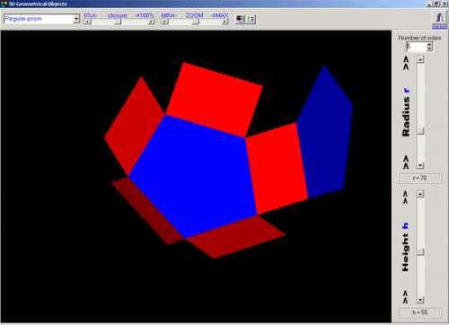 Capture d'écran 3D Geometrical Objects