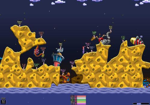 Capture d'écran Worms Armageddon