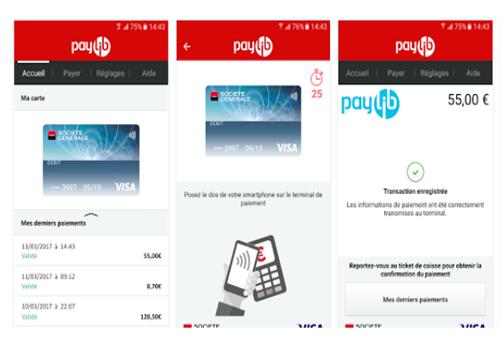Capture d'écran Paylib Société Générale Android