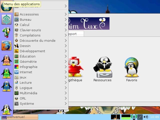 Capture d'écran PrimTux Edition Virtuelle pour Windows