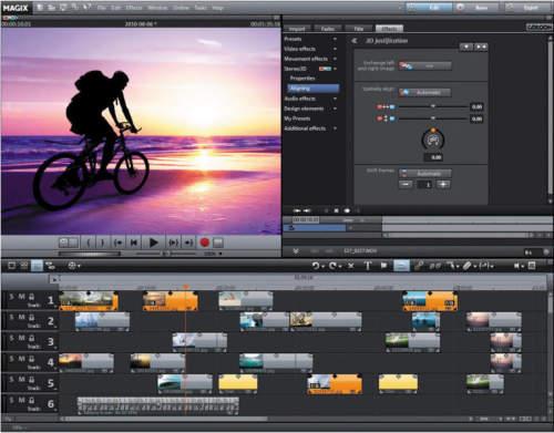 Capture d'écran MAGIX Movie Edit Pro Plus