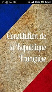 Capture d'écran Constitution Française