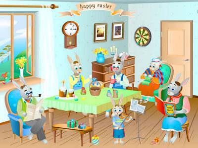Capture d'écran Easter Rabbits