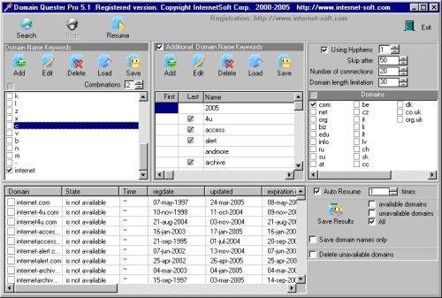 Capture d'écran Domain Quester