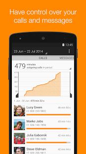 Capture d'écran Callistics – Appel,SMS,Données