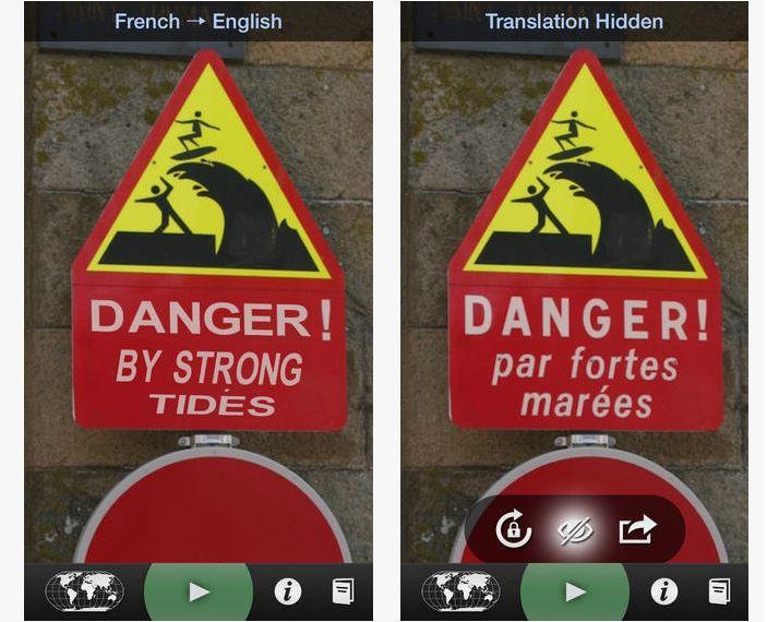 Capture d'écran Word Lens iOS